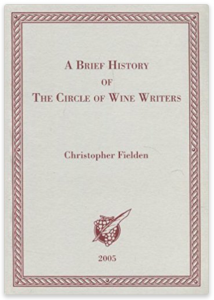 A brief history of the circle of wine writers
