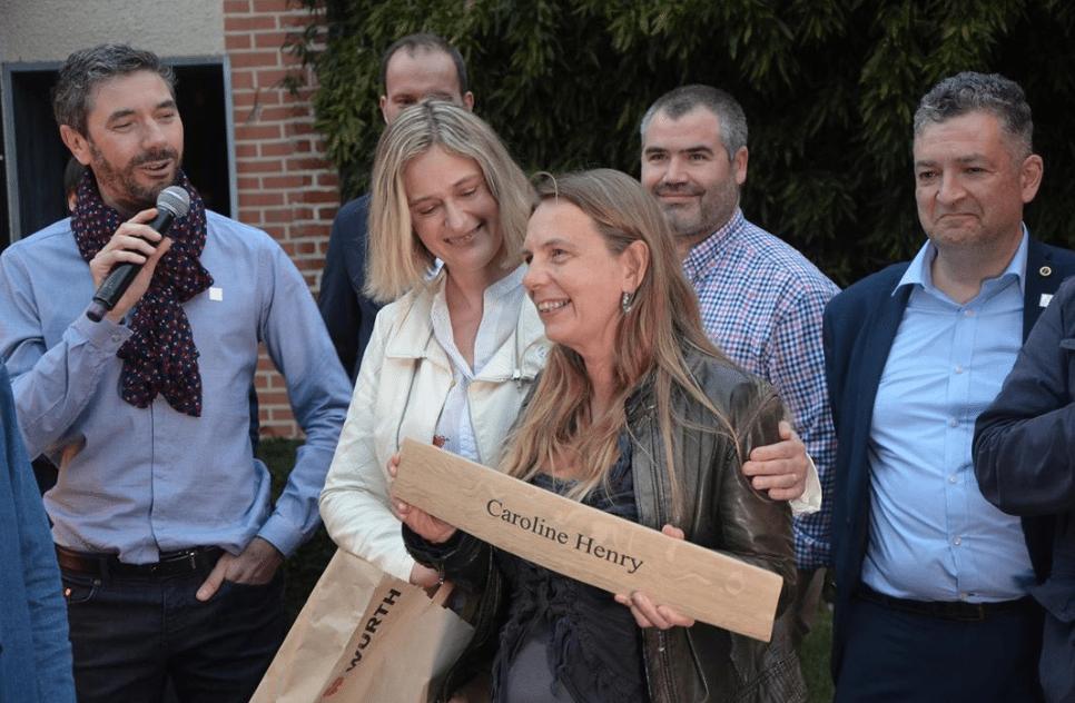 Caroline Henry wins Terres et Vins de Champagne Award