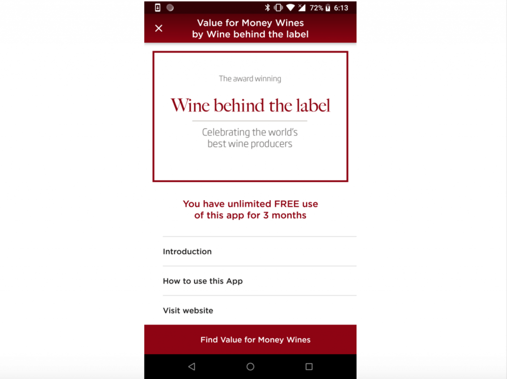 Wine Behind the Label launches app